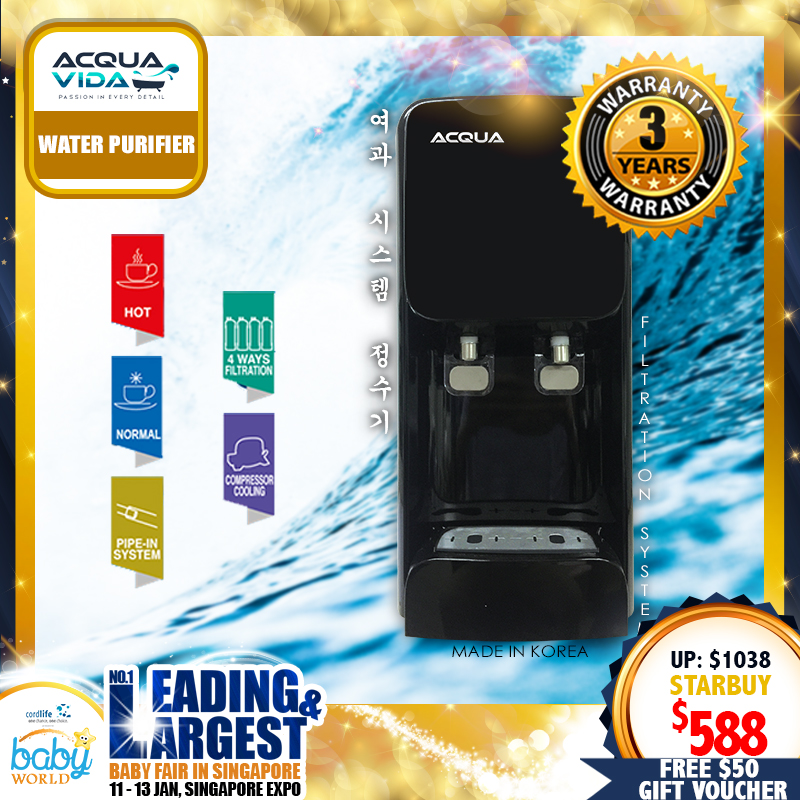 Acqua Vida JC-11 Water Purifier + 3 YEARS WARRANTY & 1 YEAR ON SITE WARRANTY!