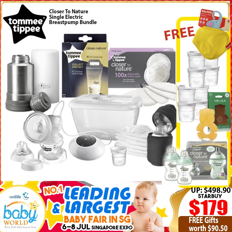 TOMMEE TIPPEE ELECTRIC BREASTPUMP BUNDLE+ FREE GIFTS WORTH $90.50