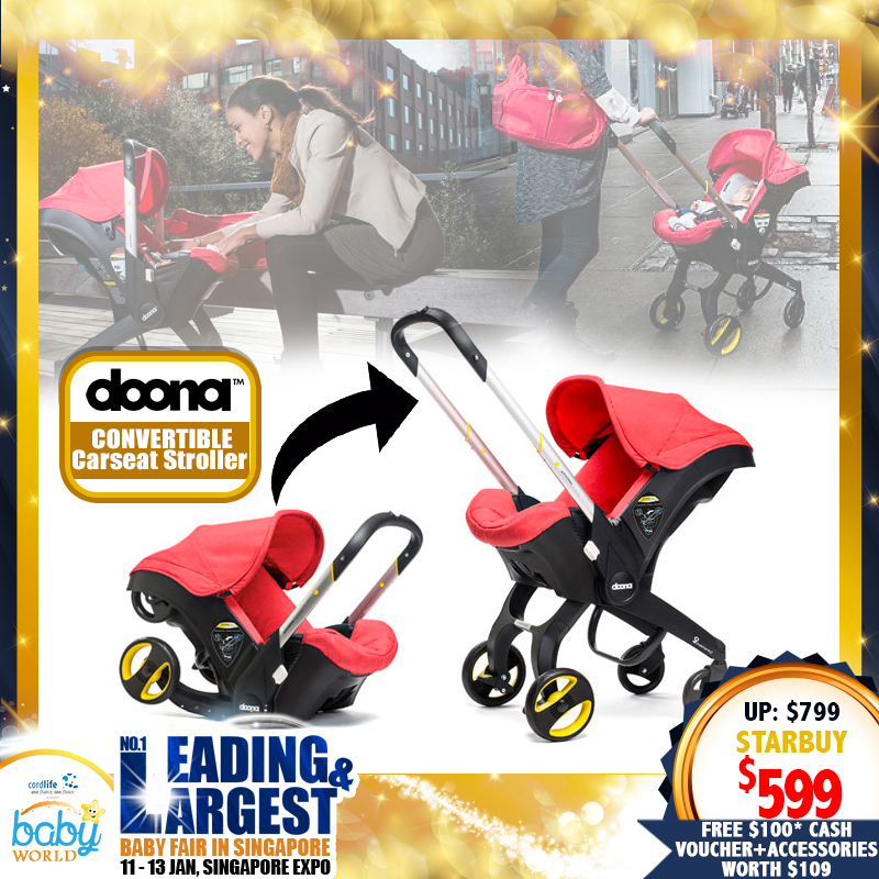 The Doona CONVERTIBLE Carseat Stroller + FREE $50 VOUCHER FOR DOONA ACCESSORIES!