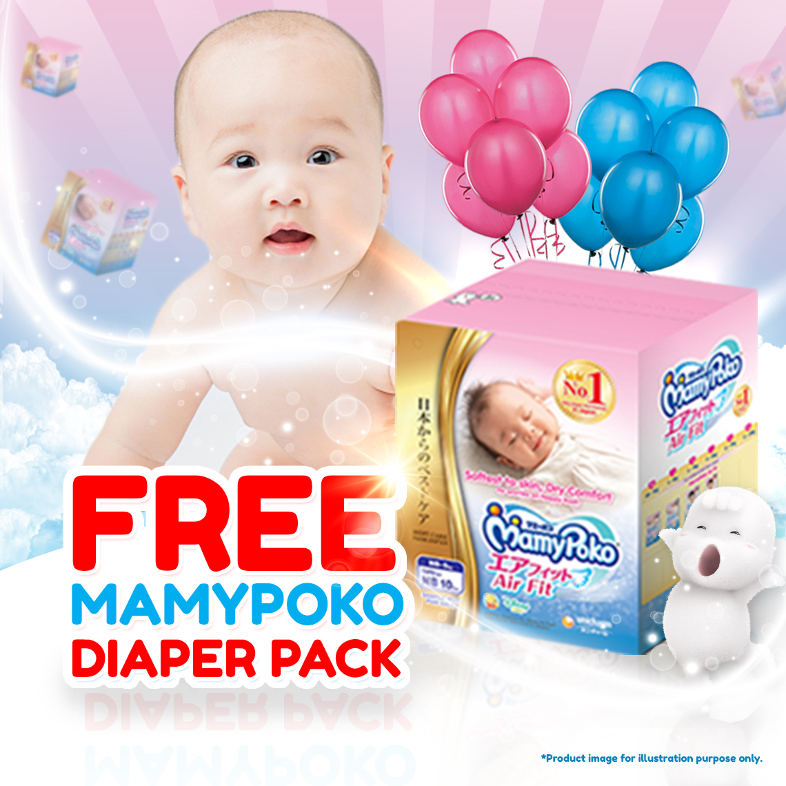 Free Mamypoko Air Fit Diaper Sample
