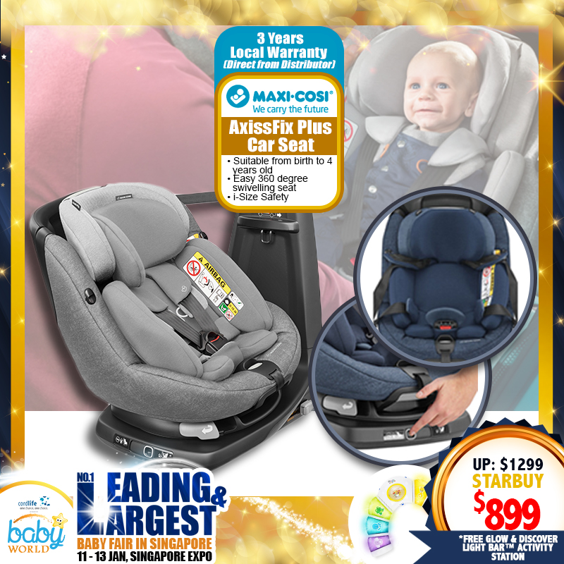 Maxi Cosi AxissFix Plus Carseat + Free 3 Years Local Warranty!! (Additional Free Gift ONLY For EARLY BIRD SPECIAL*)