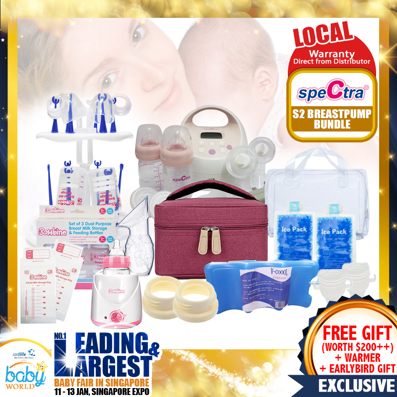 Spectra S2 Amazing Breastpump + Milk Warmer Bundle - With MANY Freegifts!! (From Local Distributors only!!) - (Additional Free Gift ONLY For EARLY BIRD SPECIAL*)