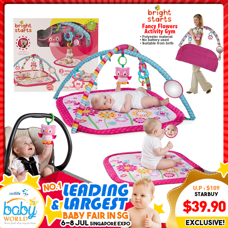 Bright Starts Fancy Flowers Activity Playgym