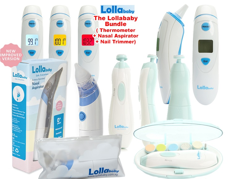 The Lollababy Bundle -Thermometer + Nasal Aspirator + Nail Trimmer