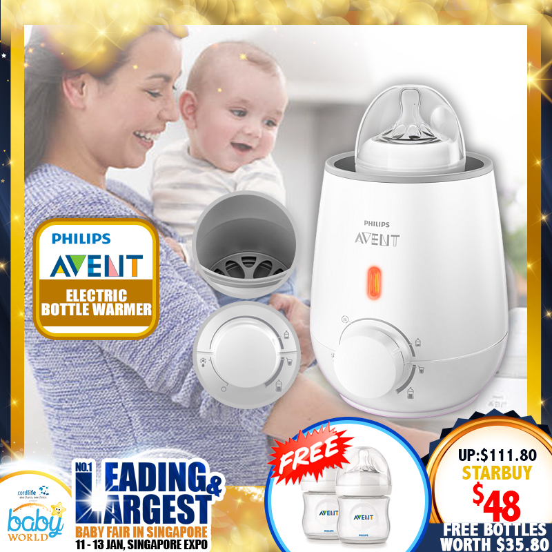 Philips Avent Electric Bottle & Baby Food Warmer Bundle + Free 2 bottles worth $35.80
