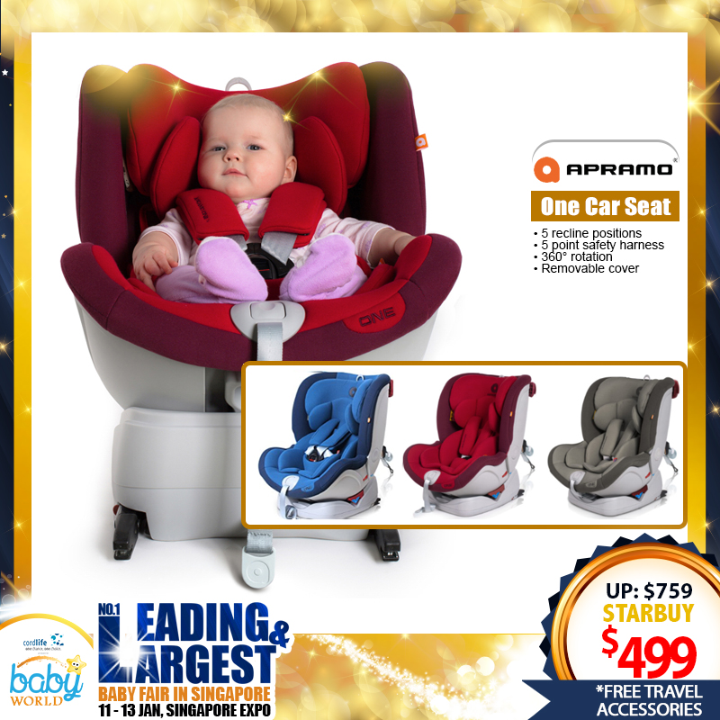 Apramo One Carseat *ADDITIONAL FREE Gift for EARLY BIRD SPECIAL!!