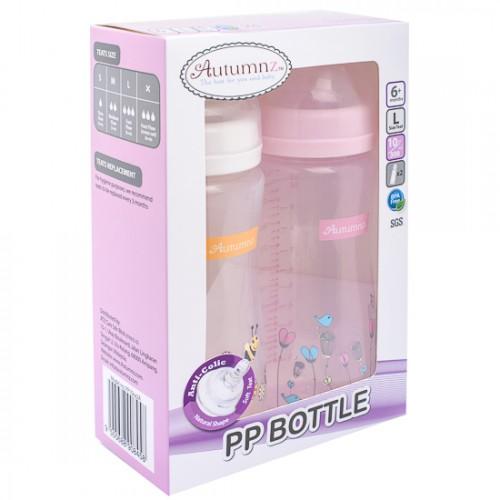 Autumnz 10oz Twin Pack PP Wide Neck Feeding Milk Bottle