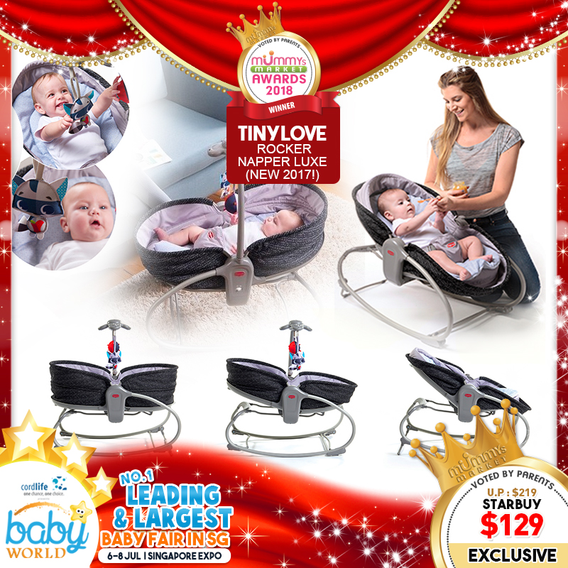 TinyLove 3 in 1 Rocker Napper Luxe (Latest Version) + FREE Gift For EARLY BIRD Specials!!