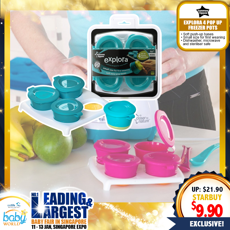 TOMMEE TIPPEE Explora 4 Pop Up Freezer Pots