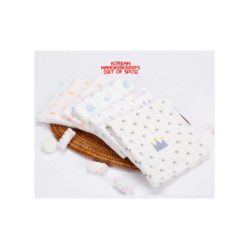 Korean Handkerchiefs (Set of 5pcs) (Buy 1 Free 1)