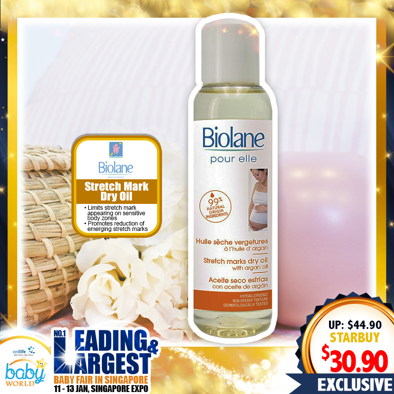 Biolane Stretch Mark Skincare Dry Oil  (31 PERCENT OFF)
