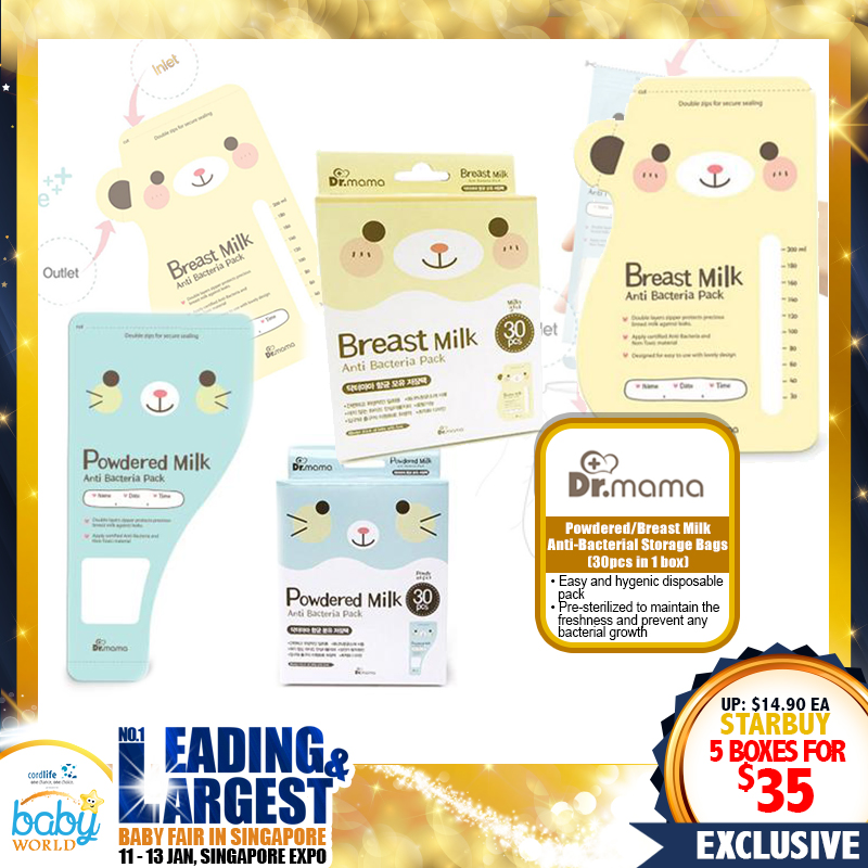 Dr Mama Breastmilk Storage Bags MORE THAN 50% OFF!! Buy More SAVE More!!