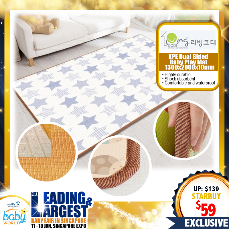 Living Codi XPE Dual Sided Baby Playmat