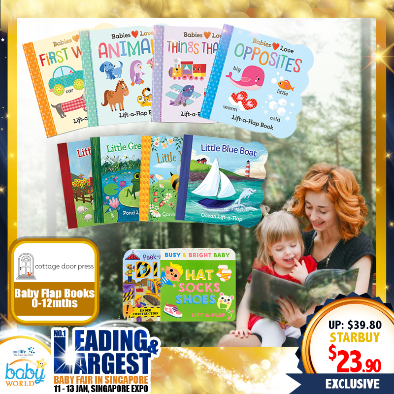 Cottage Door Press Baby Flap Books - Suitable for 0+ months to 12 months - Multiple Titles (Any Two Titles)