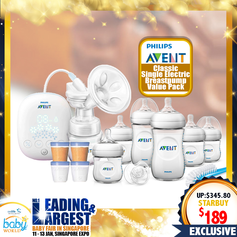 Philips Avent Classic Single Electric Breastpump Value Pack