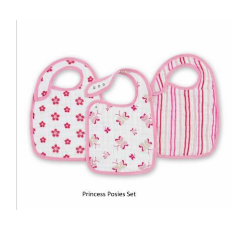 Aden + Anais Nibble Snap Bib 3Pcs/Pack (3 Different Designs Available!!)