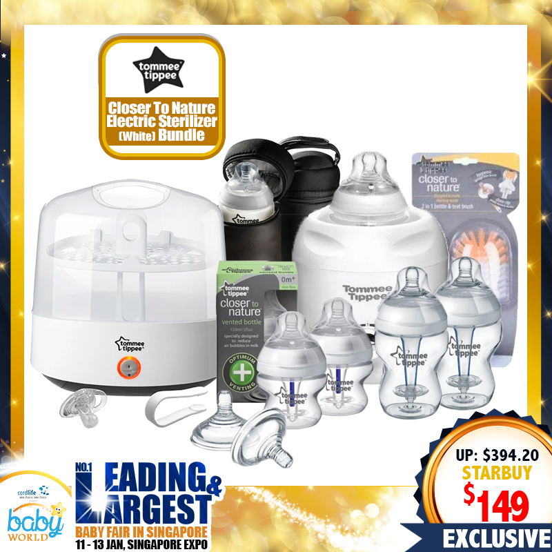 TOMMEE TIPPEE Closer To Nature Electric Sterilizer (NEW VERSION) + A Lot FREE Gifts (WORTH $225.20!!)