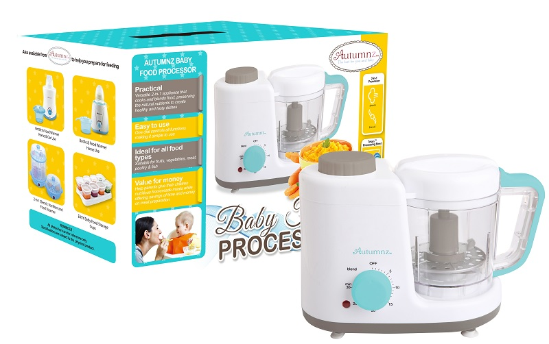 Autumnz - 2-in-1 Baby Food Processor (Steam & Blend) + Free Gift