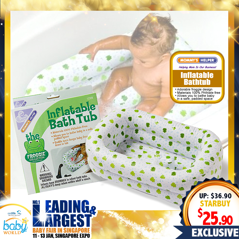 Mommy's Helper Froggie Inflatable Bath Tub