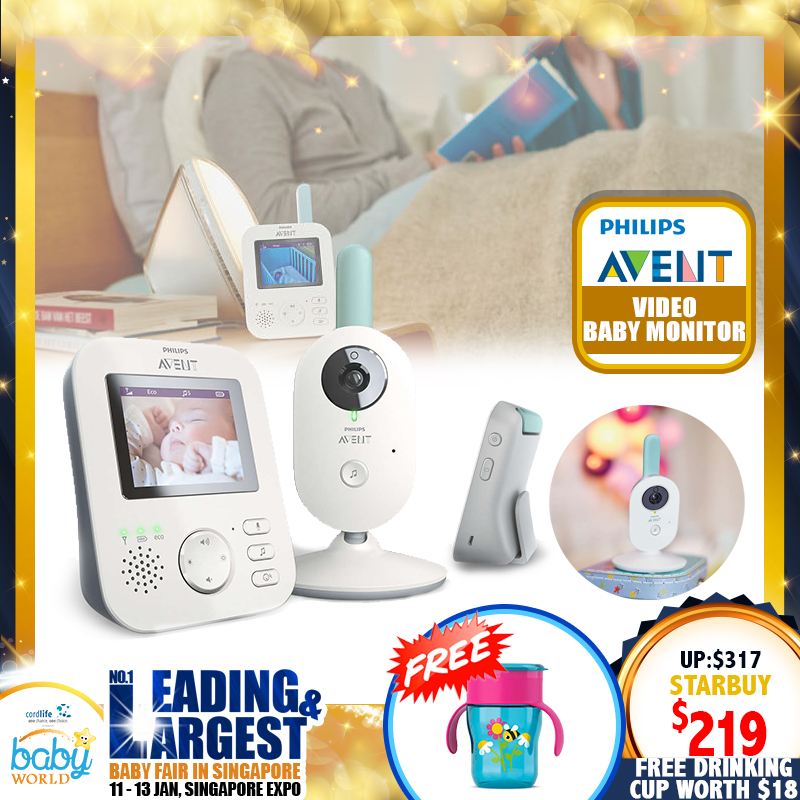 Philips Avent Video Baby Monitor + Free 260ml Drinking Cup