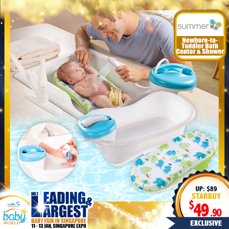 Summer Infant Newborn To Toddler Bath Center & Shower (Bath Tub)