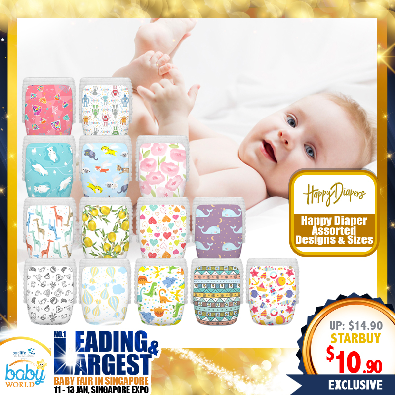 Happy Diaper with Assorted Designs