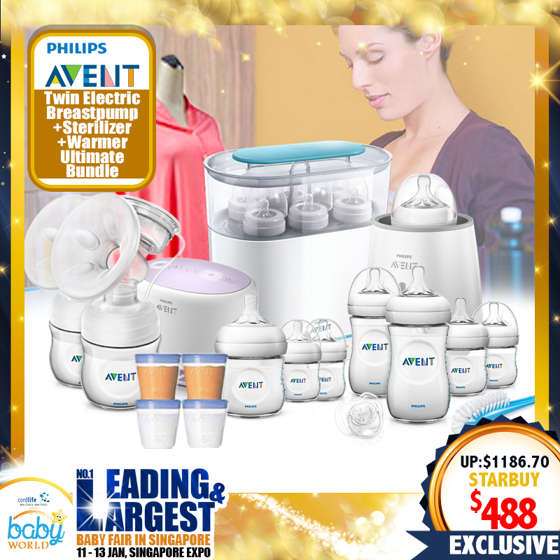 Philips Avent Twin Electric Breastpump Super Super Good Deal + Steam Sterilizer + Warmer + Free Gifts!
