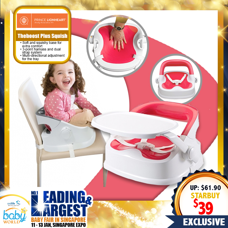 Prince Lionheart Theboost Plus Squish Baby Sitter / Booster Seat