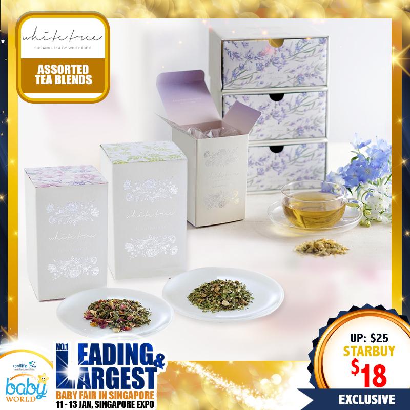WhiteTree Organic Tea (Calming Blend/ Beauty Blend/ Detox Blend)