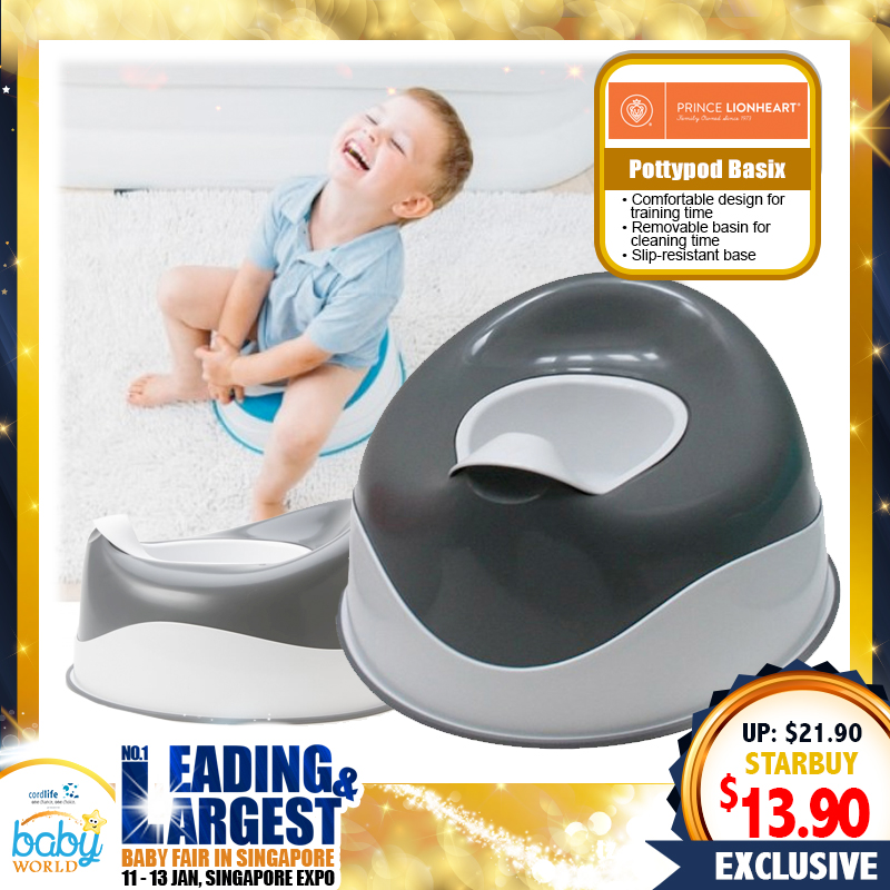 Prince Lionheart Pottypod Basix - Galactic Grey / Flashbulb (Potty)