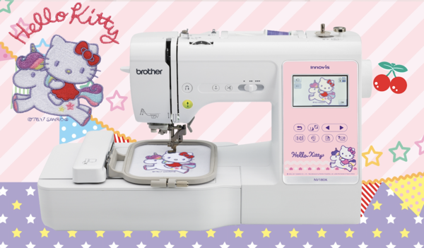 Brother NV180K - Hello Kitty 3-in-1 Sewing + Embroidery + Quilting Machine + 1 YEAR WARRANTY