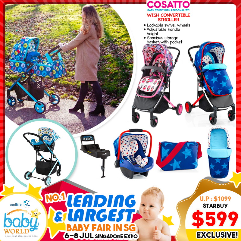 b345d4354b06 Cosatto WISH Convertible Stroller (45% OFF!!)