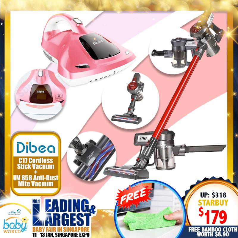 Dibea Cordless Stick Vacuum Cleaner + Anti-Dust Mites Vacuum Cleaner BUNDLE DEAL