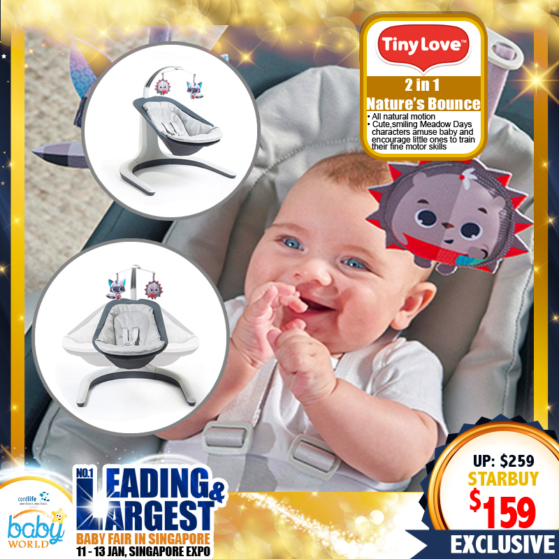 TinyLove 2 IN 1 Nature's Way Bouncer (Bounce and Sway)