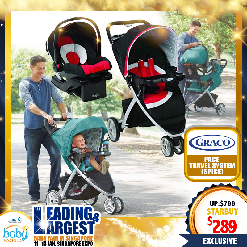 Graco Pace Click Connect Travel System (Stroller + Carseat)