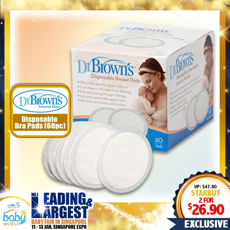 Dr Brown Disposable Bra Pad Bundle of 2 (2 x 60pcs)