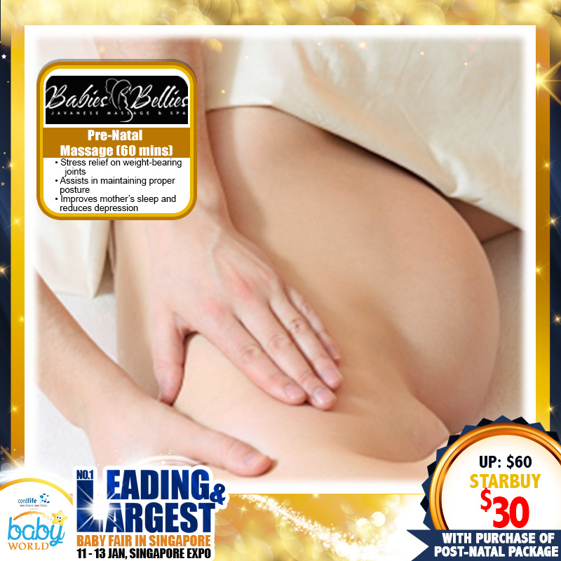Post Natal Package By Babies-Bellies (Prenatal Massage By Babies-Bellies @ $30 with every Post Natal Package purchase)