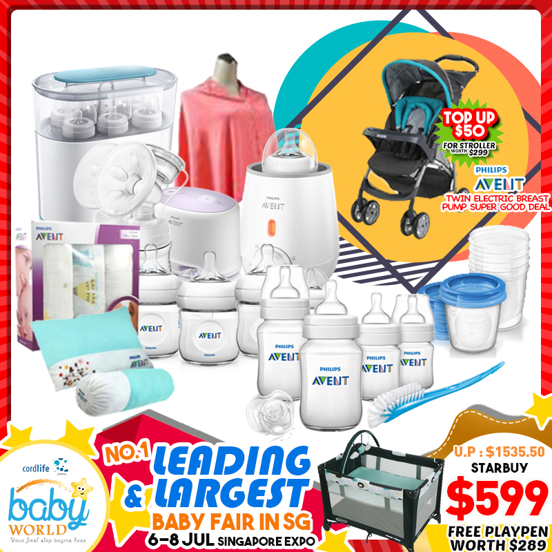 Philips Avent Twin Breastpump Bundle + Free Playpen worth $289!! PWP Available!