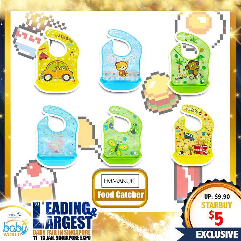 EM Food Catcher Bib (49 Percent OFF)
