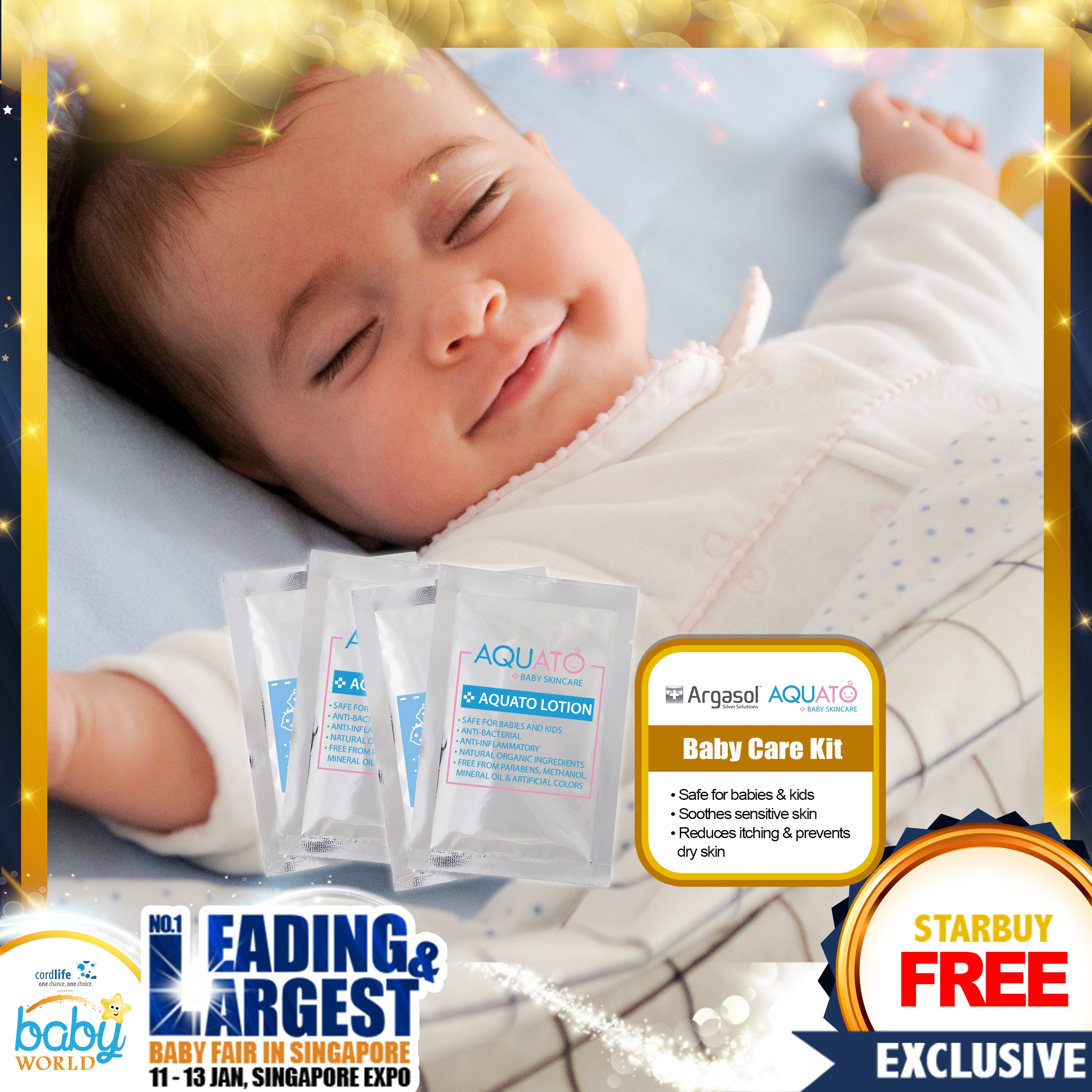FREE Samples!! 2pcs Argasol Kids Gel + 2pcs Aquato Lotion Skincare