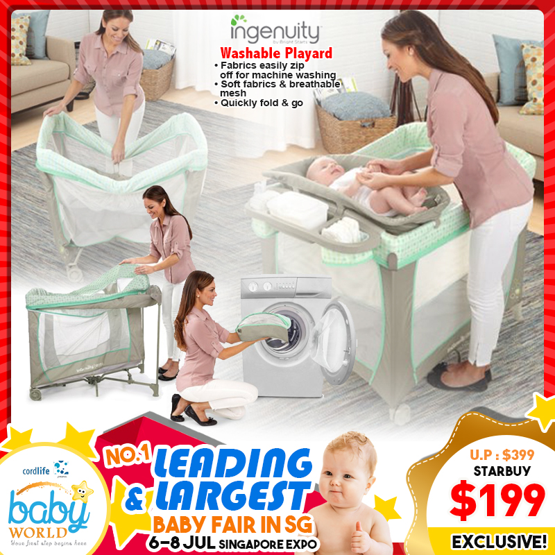 Ingenuity Smart and Simple Washable Playpen - Ridgedale