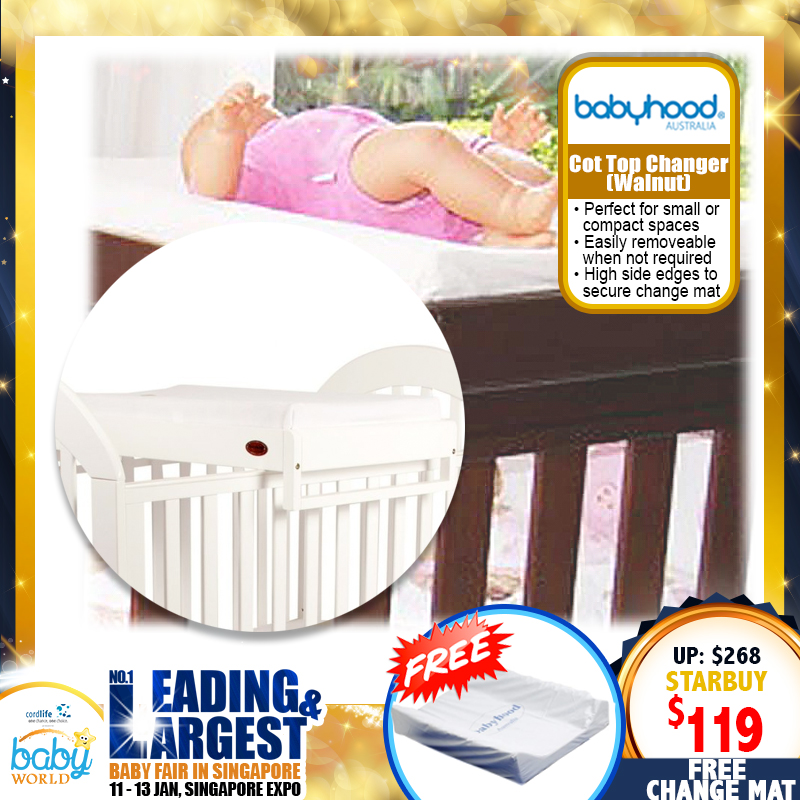 Babyhood Cot Top Changer + FREE Changing Mat