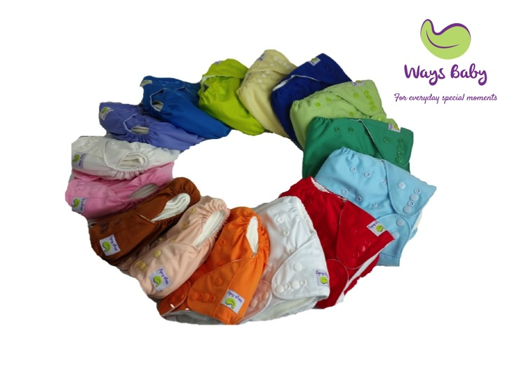 Ways Baby Premier Stay Dry Cloth Diaper Set (Bundle of 5)