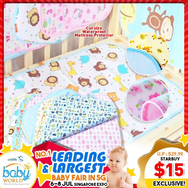 Mummykidz Cot size Waterproof Mattress Protector /Diaper Changing Mat