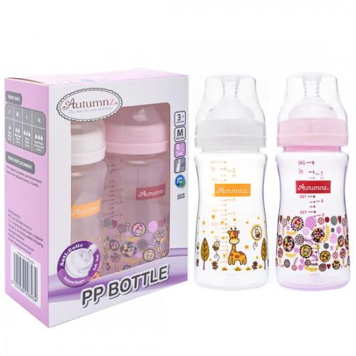 Autumnz (8oz Twin Pack)PP Wide Neck Feeding Milk Bottle
