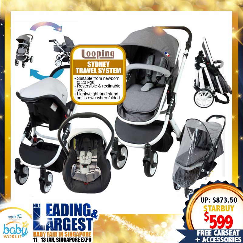 Looping Sydney 3-In-1 Stroller Travel System (Stroller + Carseat) + FREE GIFTS!