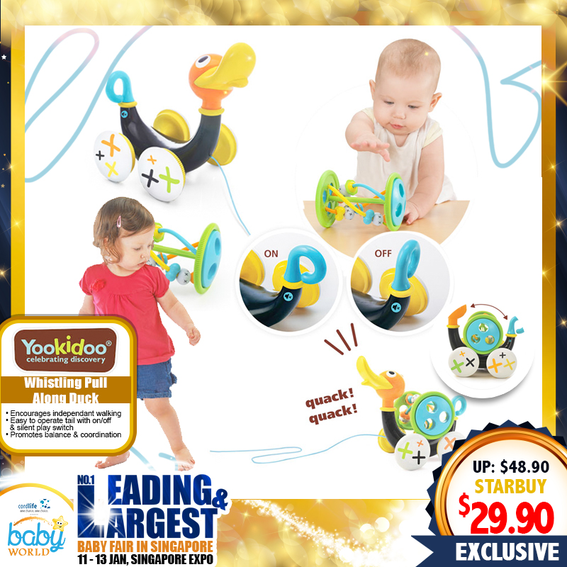 Yookidoo Pull Along Whistling Duck Toy