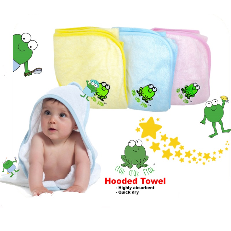 Crok Crok Frok Hooded Bamboo Towel (BUY 1 FREE 1!)