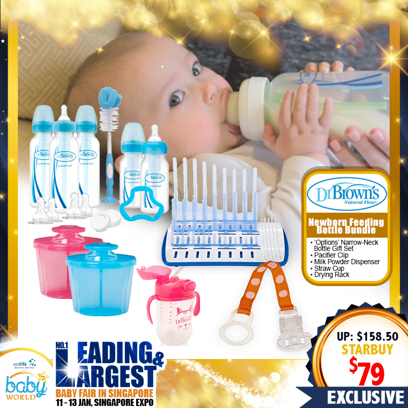 Dr Brown Newborn Feeding Bottle Bundle (