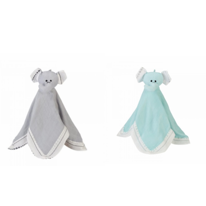 Aden + Anais Elephant Silky Soft Musy Mate Lovey Soother (Moonlight/Azure)